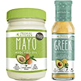 Primal Kitchen – Avocado Mayo and Greek Vinaigrette Combo Pack, Made with Avocado Oil & Organic Ingredients – Vegan & Paleo Approved