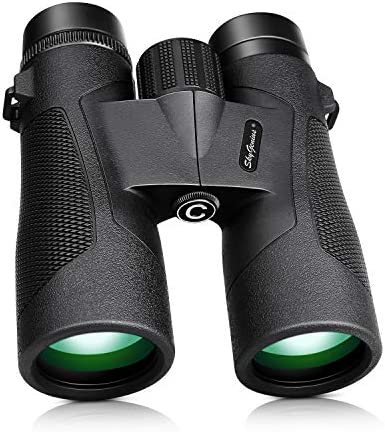 SkyGenius 10×42 Binoculars for Bird Watching, Antifog Waterproof Binoculars for Adults, Bak-4 Roof Prism Quick Focus HD Binoculars for Sporting Event Sightseeing with Strip