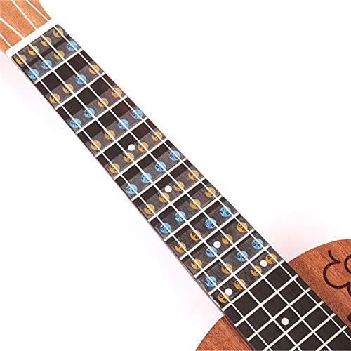 1 Pcs Zebra Ukulele Fretboard Note Map Sticker Uke Ukelele Fingerboard Frets Decals Musical Scale Note for Beginner Practice ()