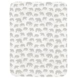 Carousel Designs French Gray Bears Crib Comforter