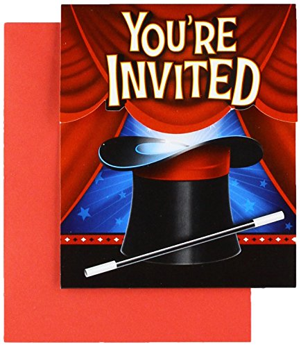Discount Party Invitations (Creative Converting 8-Count Party Invitations, Magic Party -)