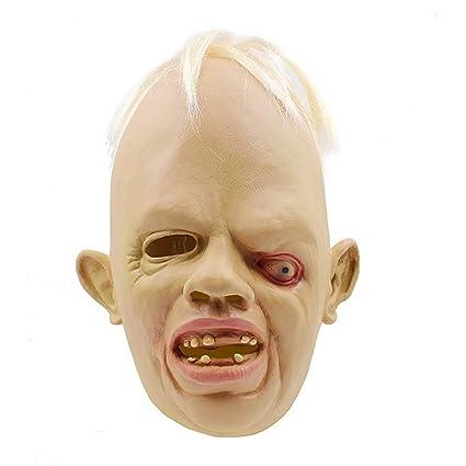 Halloween Máscara Bizco Extraño Zombie Horror Maquillaje Divertido PROM Props Eco-Amistoso Látex Material Warcraft