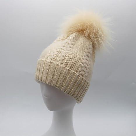 Vera Prick Hair Ball Lana cap Pezzato Lana Torsione Maglia Cappello Autunno  e Inverno Cappello Caldo 52e4f62716ce