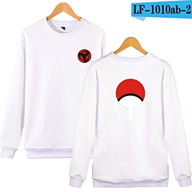 WEEKEND SHOP Hoodie Naruto Anime Hoodies Sweatshirts Hoodies Men Uchiha Syaringan Clothes White