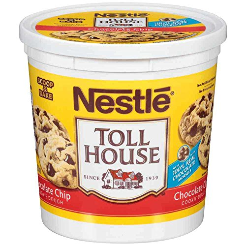 Toll House Chocolate Chip Cookie Dough, 5 Pound Tub -- 6 per case. (Dough Cookie Tub)