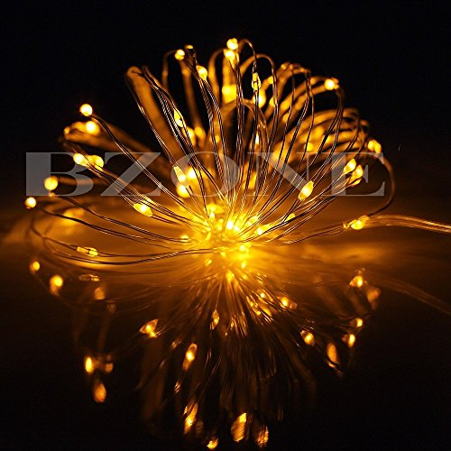String Lights Qatar : BZONE Yellow Battery Operated LED Fairy Light String Lights Flexible Copper Wire LED Decorative ...
