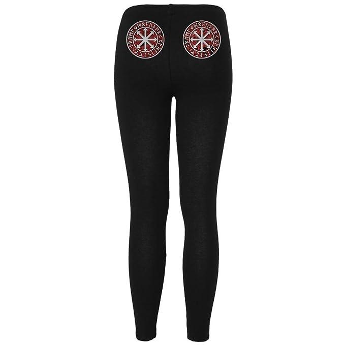 4ea88287ee31f Viking Shield Maiden Chaos Symbol Womens Leggings Black X-LG: Amazon ...