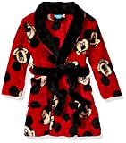 Disney Toddler Boys' Mickey Mouse Robe, Red, 3T