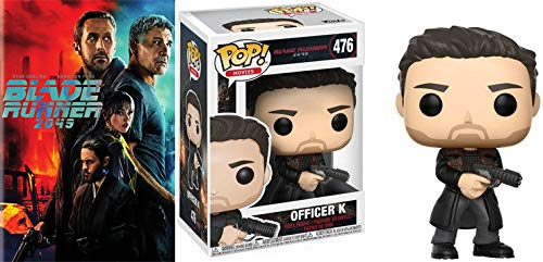 New Exclusive Blade Runner Dvd And Pop Collection: Blade Runner 2049 & Officer K Pop #476 2 Piece -Movie/ Figure DVD Bundle