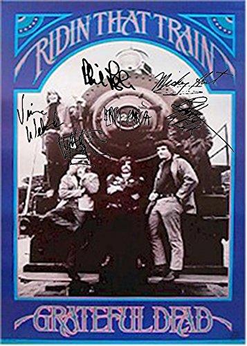 Grateful Dead Autographed Signed Ridin That Train Poster Autographed Signed Facsimile