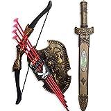 VISTON Swords Shield Bow and Arrow Sword Shield Sucker Simulation Archery Plastic Sword Toy Set