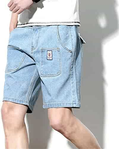 ef77ac7236ba Aancy Straight Casual Denim Shorts Multi-Pocket Pants Jeans Trend M-5Xl.