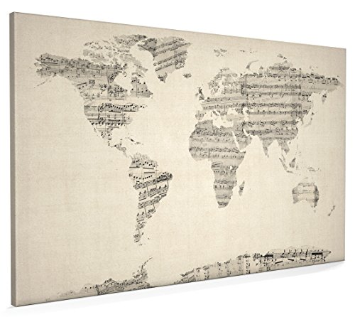Map of the world map vintage sheet music collage canvas art print 22x34 inch a1 895 map of the world map vintage sheet music collage canvas art print 22x34 inch a1 895 amazon kitchen home gumiabroncs Image collections