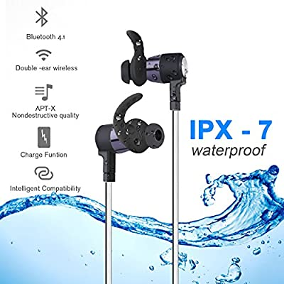 Wireless bluetooth headphones waterproof sports earbuds noise cancelling earphones with Build-in Mic and Charging case compatible with iPhone 5 6 6s 7 plus Samsung and most Android Phones