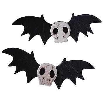1Pair Retro Bat Hairpin Halloween Fancy Dress Bat Bobby Pin Party Cosplay Props