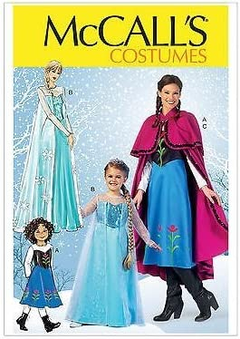 Amazon.com McCallu0027s Crafts Pattern MP381 Winter Princess Costumes Featuring Anna and Elsa from Frozen (Kids Sizes) Arts Crafts u0026 Sewing  sc 1 st  Amazon.com & Amazon.com: McCallu0027s Crafts Pattern MP381: Winter Princess Costumes ...