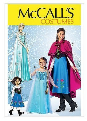 McCall's Crafts Pattern MP381: Winter Princess Costumes Featuring Anna and Elsa from Frozen (Kids (Princess Winter Costumes)