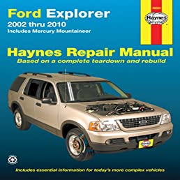 ford explorer 2002 thru 2010 includes mercury mountineer ford explorer 2004 manual pdf 2002 ford explorer owners manual