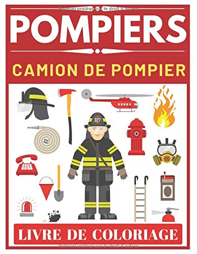 Amazon Pompiers Camion De Pompier Livre De Coloriage Press Montain City Life