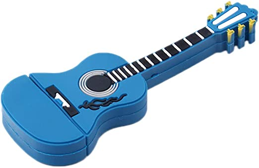 Skyeye Mini Guitarra Azul Colorear Estilo PVC U Disco USB Flash ...