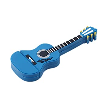 Skyeye Mini Guitarra Azul Colorear Estilo PVC U Disco USB Flash Drive Pen Drive Memoria 32G Espacio de Almacenamiento: Amazon.es: Hogar