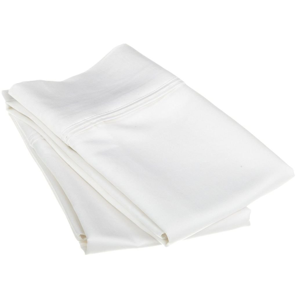 Royal Linen Bedding's Top Selling on Amazon Body Size { 2-Piece } Pillow Cases 700 TC Egyptian Cotton Hotel Quality Pillow Cases Perfect Size Body (20X54) White Solid by Royal Linen Bedding's (Image #1)