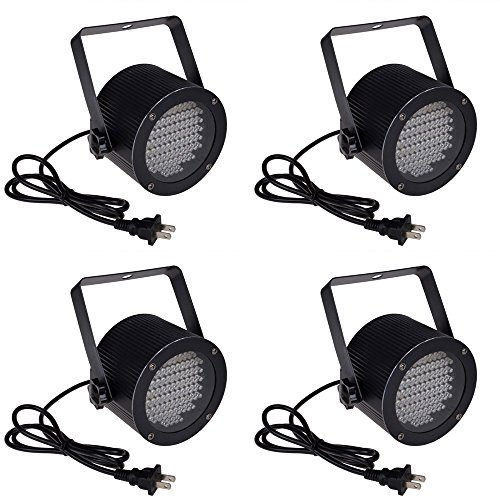 TMS 4pcs 86 RGB LED Stage Light Par Dmx-512 Lighting Laser Projector Party Club Dj (Led Par Lights)