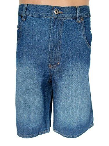 Jean pour homme effet délavé-bermuda-short en jean pour homme, courte, bleu, hE-jea-ber-dbl-aM-hE-jean-ber scotti dblau--