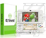 Nintendo 3DS Screen Protector, IQ Shield® LiQuidSkin Full Body Skin + Full Coverage Screen Protector for Nintendo 3DS (Standard Version,2015) HD Clear Anti-Bubble Film - with Lifetime Warranty