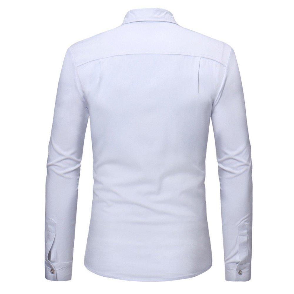 Camisa manga larga para hombre moda fashion 2018,Sonnena ❤ Camisas para hombres Slim Solid con cremallera Camiseta de manga larga casual de verano Blusa ...