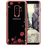Software : Galaxy S9 Plus Case,Lozeguyc [Secret Garden] Rose Gold and Pink TPU Plating Clear Shiny Cover Series for Samsung Galaxy S9 Plus--Swarovski