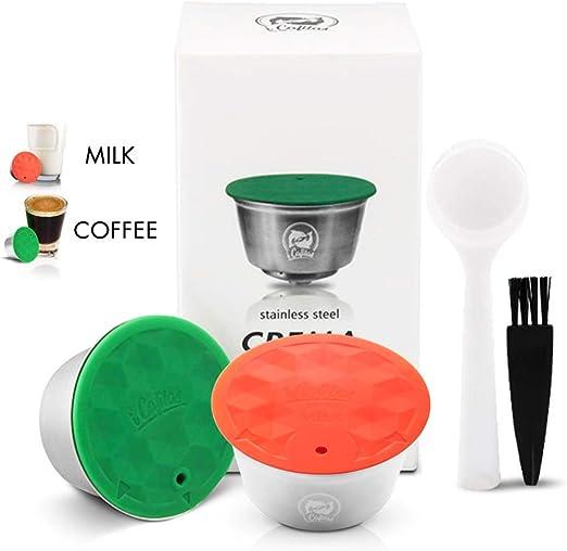 i Cafilas - Juego de cápsulas de café y leche reutilizables ...