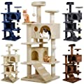 """Yaheetech 53.5"""" Cat Tree Tower Condo Furniture Scratch Post for Kittens Pet House Play"""
