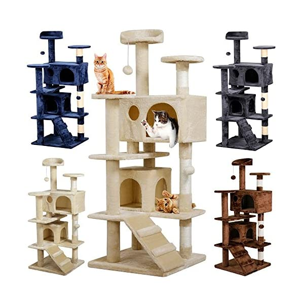 Yaheetech 51in Cat Tree Tower Condo Furniture Scratch Post for Kittens Pet House Play 1