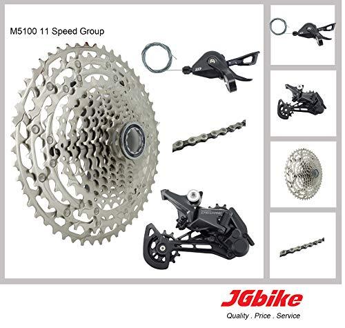 JGbike Compatible MTB groupset for Shimano M8000 M7000 11 Speed shifters & Rear Derailleur, KMC X11 Chain,Sunrace 11-46T CSMS8 11-50T CSMX80, Shimano CSM8000 Cassette
