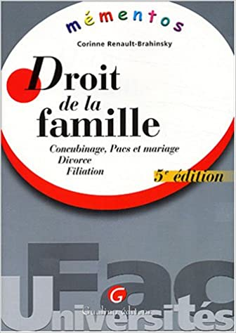 Livres gratuits en ligne Droit de la famille : Concubinage, Pacs et mariage, Divorce, Filiation epub, pdf