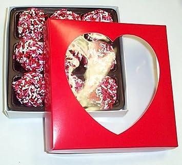 Amazoncom Scotts Cakes Chocolate Valentine Balls 12 Lb Heart