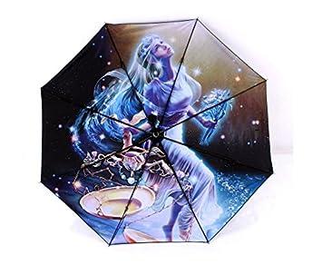 YUSAN® Paraguas 12 constelaciones termal impresión sol sombrilla paraguas regalo plegable sombrilla , libra
