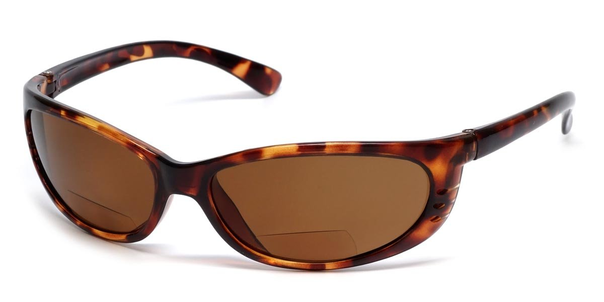 Sun-Mag+ Polarized Bi-Focal Sunglasses Readers in Tortoise & Amber (+2.50) by Sun-Mag+