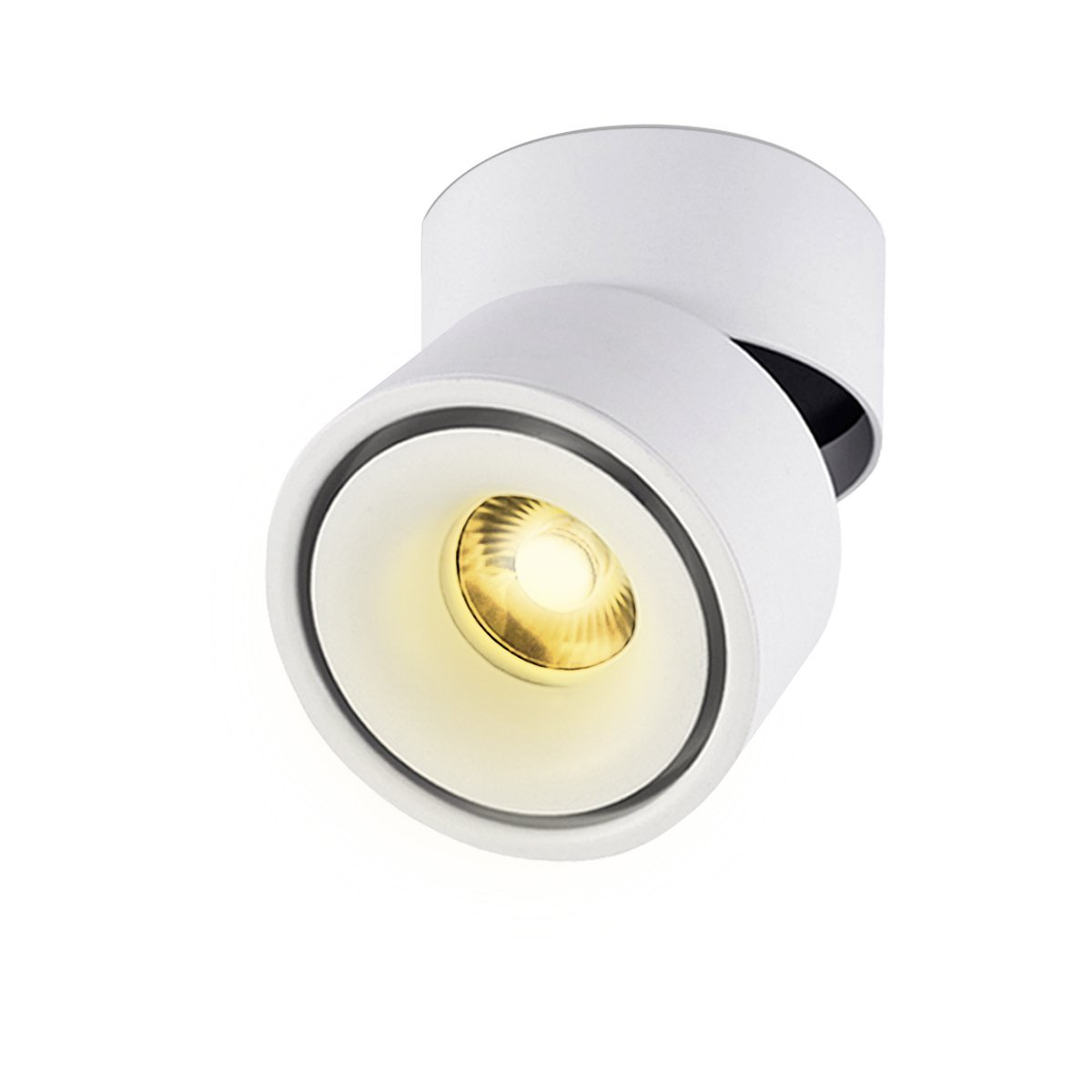 LANBOS luz de techo LED Lámpara de pared - luz de techo y pared, Led Downlight,Focos para el techo, luz blanca cálida, 3000K,10 W, IP20, 10X10CM, ...