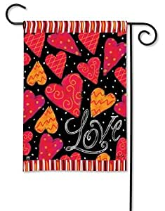 Magnet Works Garden Flag - Love Hearts
