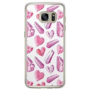 Loud Universe Samsung Galaxy S7 Edge Love Valentine Files Valentine 52 Printed Transparent Edge Case - White/Pink