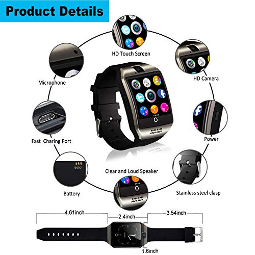 Smartwatch, Bluetooth Smart Watch Sleep Monitor Touch Screen