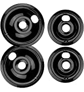 WB31M20 and WB31M19 Porcelain Burner Drip Pan Bowls Replacement By AMI PARTS Fits GE/Hotpoint Ele...