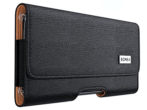 Bomea iPhone X Case, iPhone 10 Belt Case with Clip, Holster Pouch Sleeve Holder with Loops For Apple iPhone X Cell Phone – Snug Fits iPhone X with a Protective Case On Black