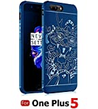 MOBISTYLE FOR ONE PLUS 5 (1+5) / ONE PLUS 5 Hybrid Anti-knock 360 Degree Armor 3D Carved Dragon Protector Shell Slim Armor Shock Proof Skin Back Case Cover For [ One Plus 5 ] (3D Dragon BLUE)