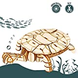 childrens wood building kit - Rolife 3D Wooden Puzzle Sea Animal Toy-Realistic Tiny Animal Action Figure-Home Decoration-Ideal Birthday/Easter Day Gift for Nephew Son Grandson Boys Girls(Turtle)
