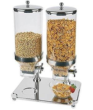 "Profesional dispensador de cereales/cereales Dispensador ""Classic Duo de policarbonato, acero"