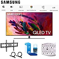 Samsung-QN75Q7FN 75 Smart 4K Ultra HD QLED TV (2018) with Deluxe Accessory Bundle Includes TV, Ultra Slim Flat Wall Mount, Screen Cleaner, 6-Outlet Surge Adapter - QN75Q7F QN75Q7FN QN75Q7 75Q7FN Q7FN