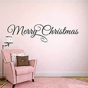 Holiday Vinyl Lettering Wall Graphic Home Decor Front Door Decal